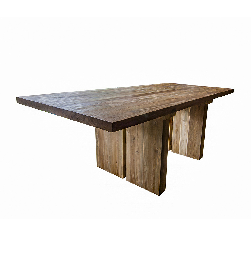 'Sunut' Reclaimed Wood Dining Table And Bench Set. Stunning