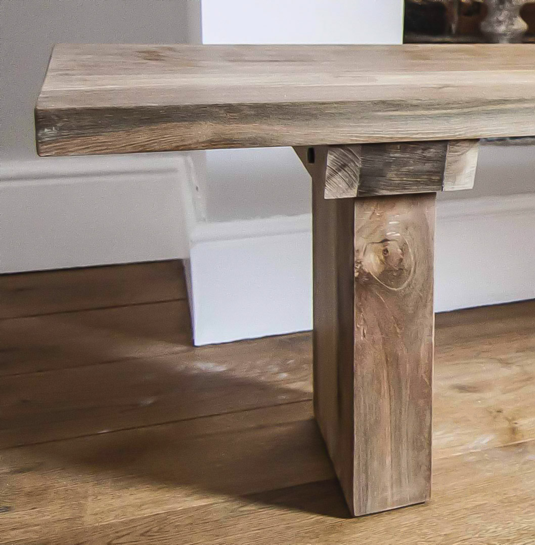 Benches Dining Table: 'Sunut' Reclaimed Wood Dining Table And Bench Set. Stunning