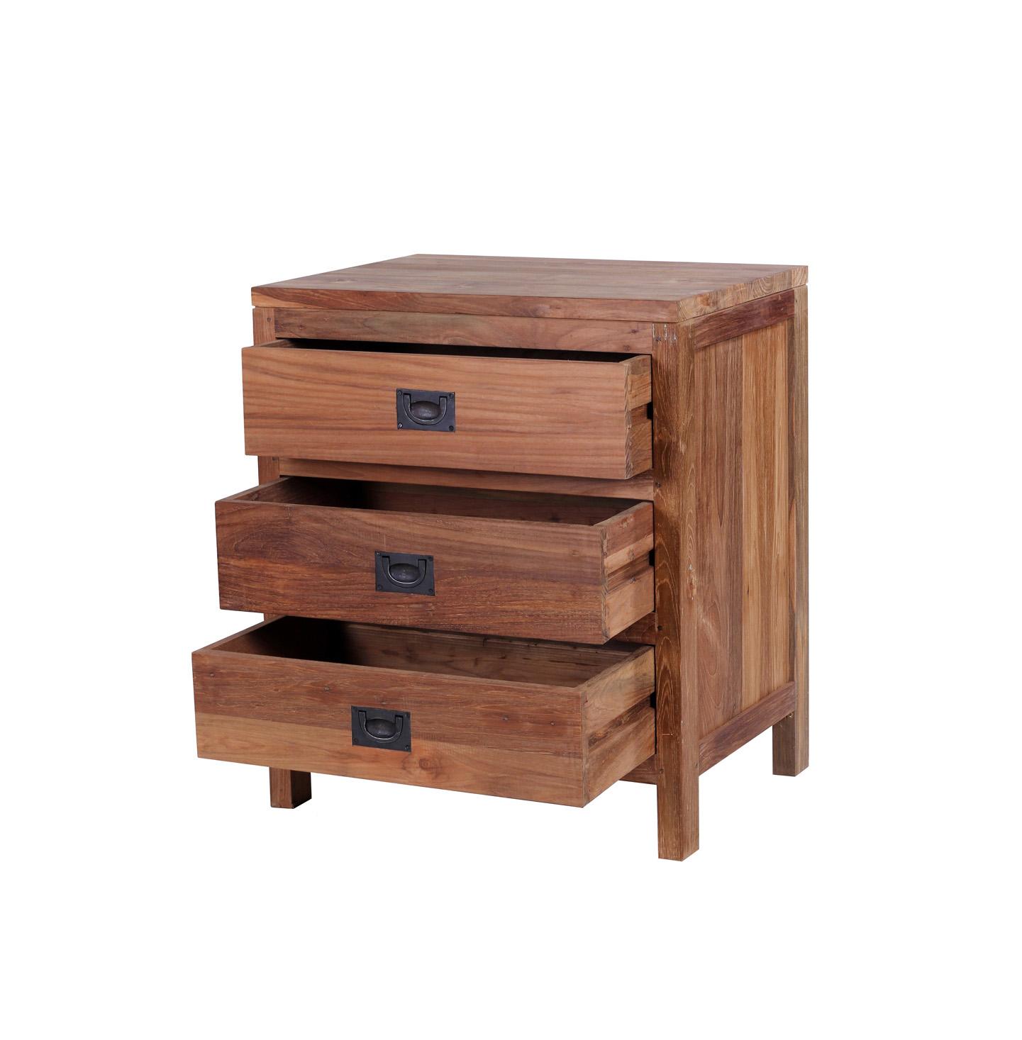 Beleke reclaimed wood bedside table
