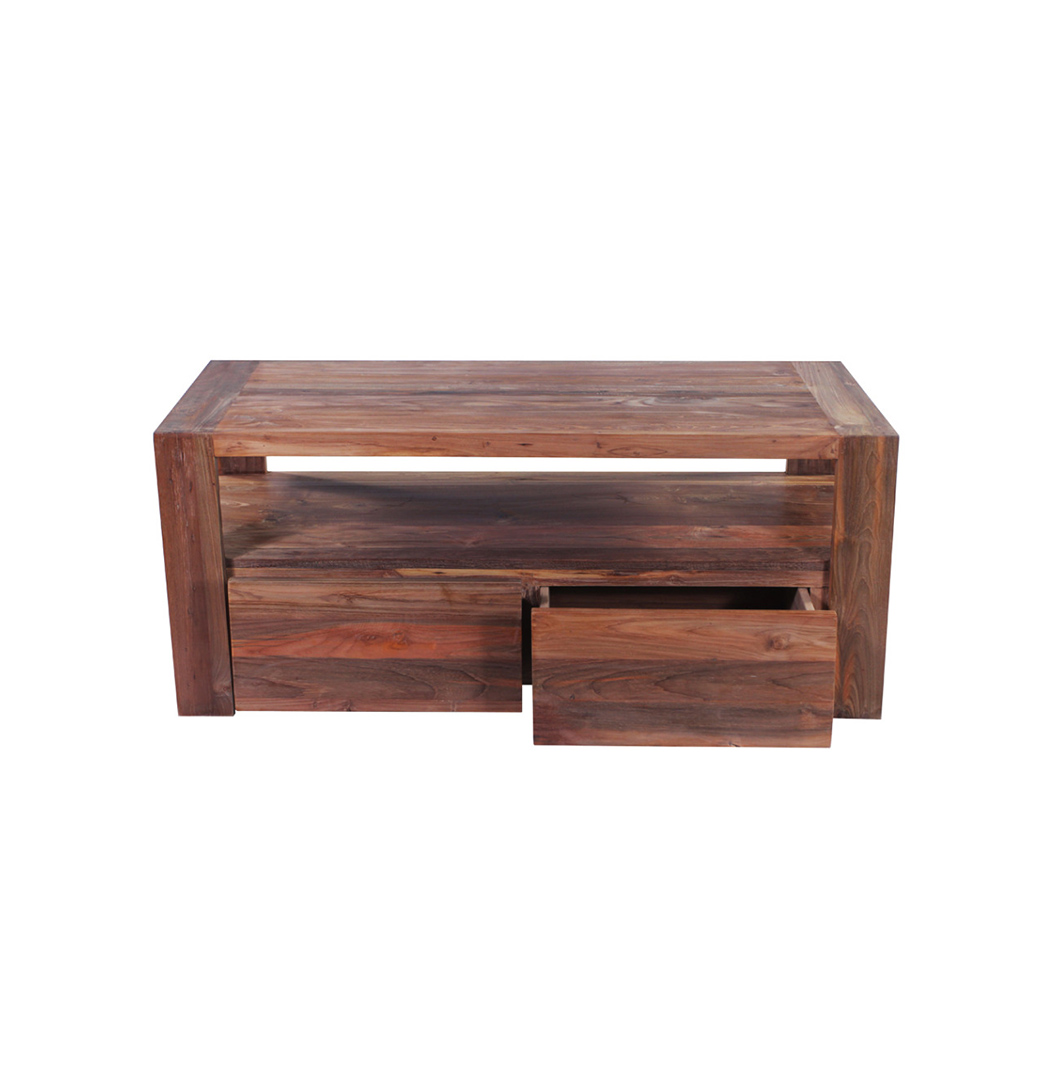 Rengit reclaimed wood TV stand