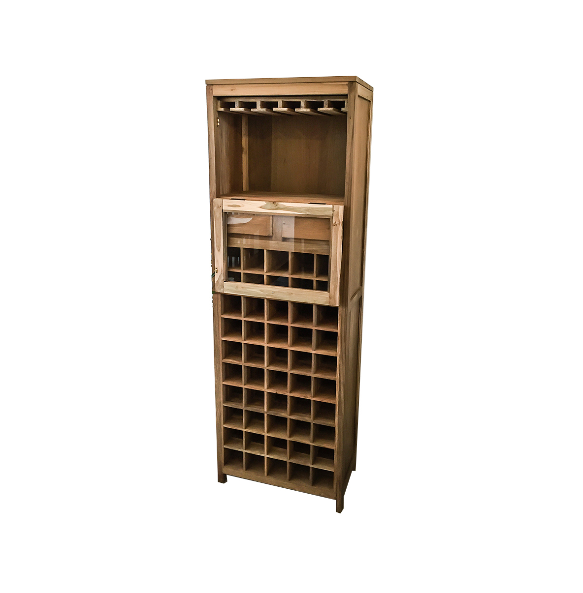 Wood kitchen table with wine rack marengo wine Wine rack designs wood