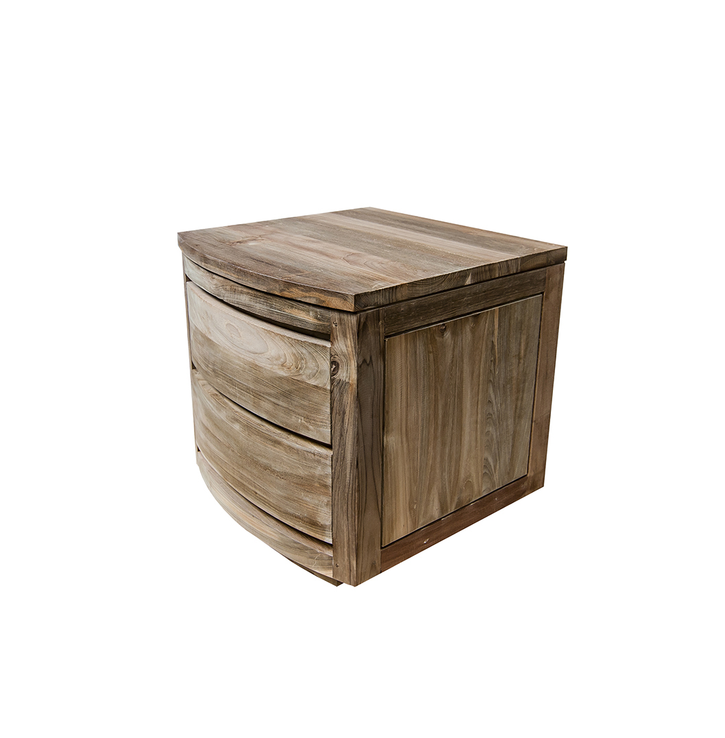 Mambi Reclaimed Curved Bedside Table1