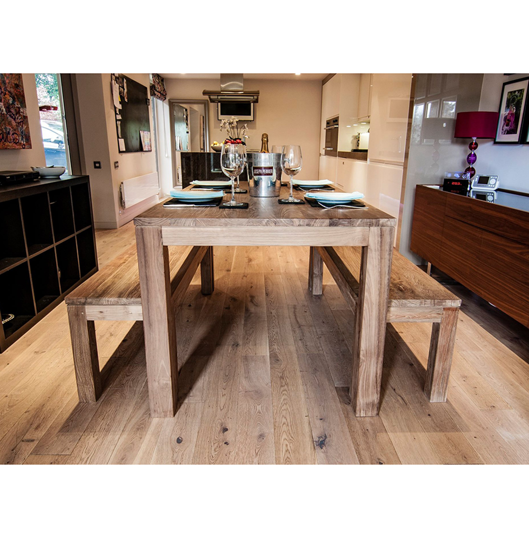 Karang Reclaimed Wood Dining Table And Benches Stunning