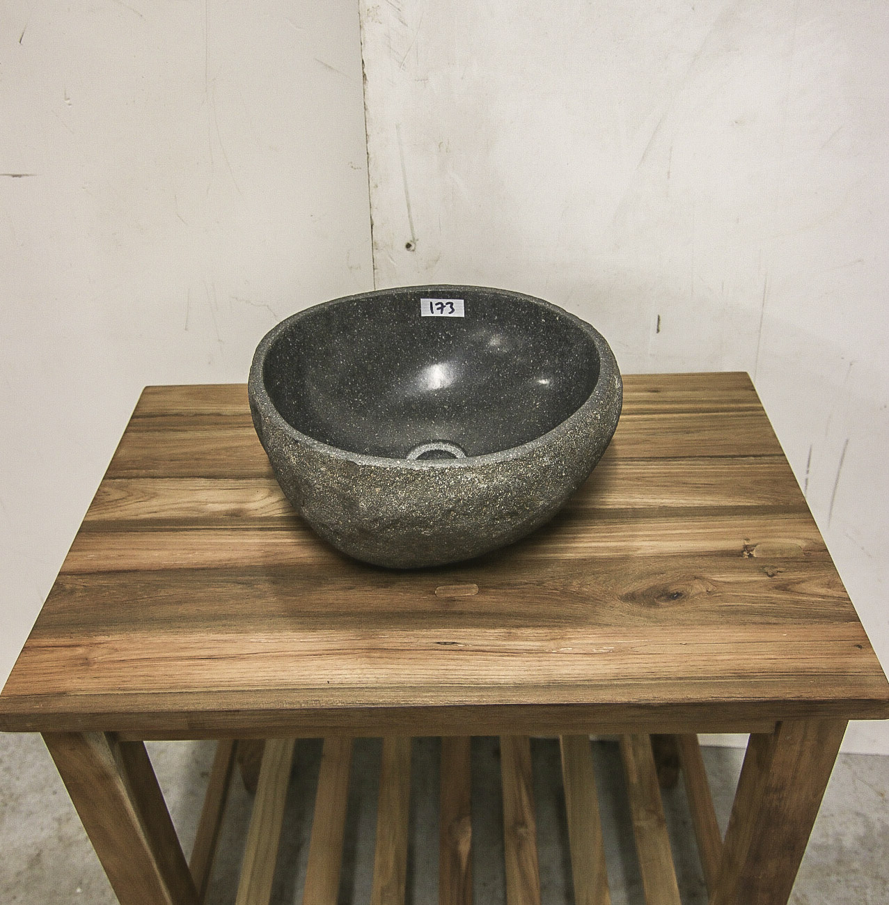 Stone Basin Number 173 L 37cm W 34cm H 15cm