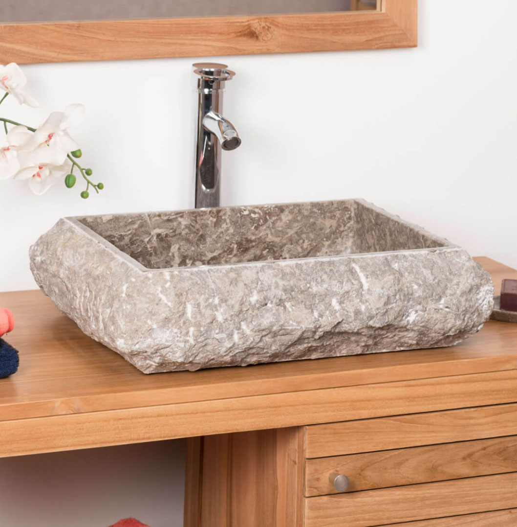 COUNTER TOP WASHBASIN IN MARBLE NAPLES GRAY TAUPE6