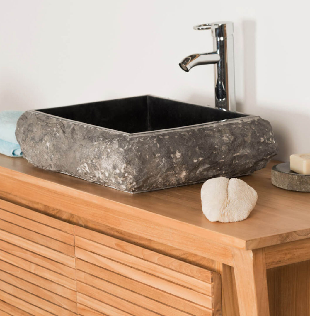 COUNTER TOP WASHBASIN RECTANGLE IN MARBLE NAPLES BLACK4