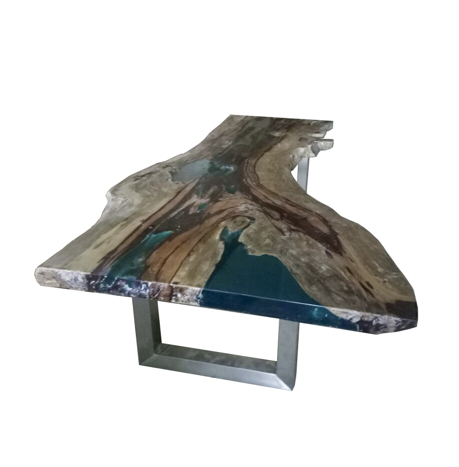 Live Edge Resin Wood Dining Table One Of A Kind Table