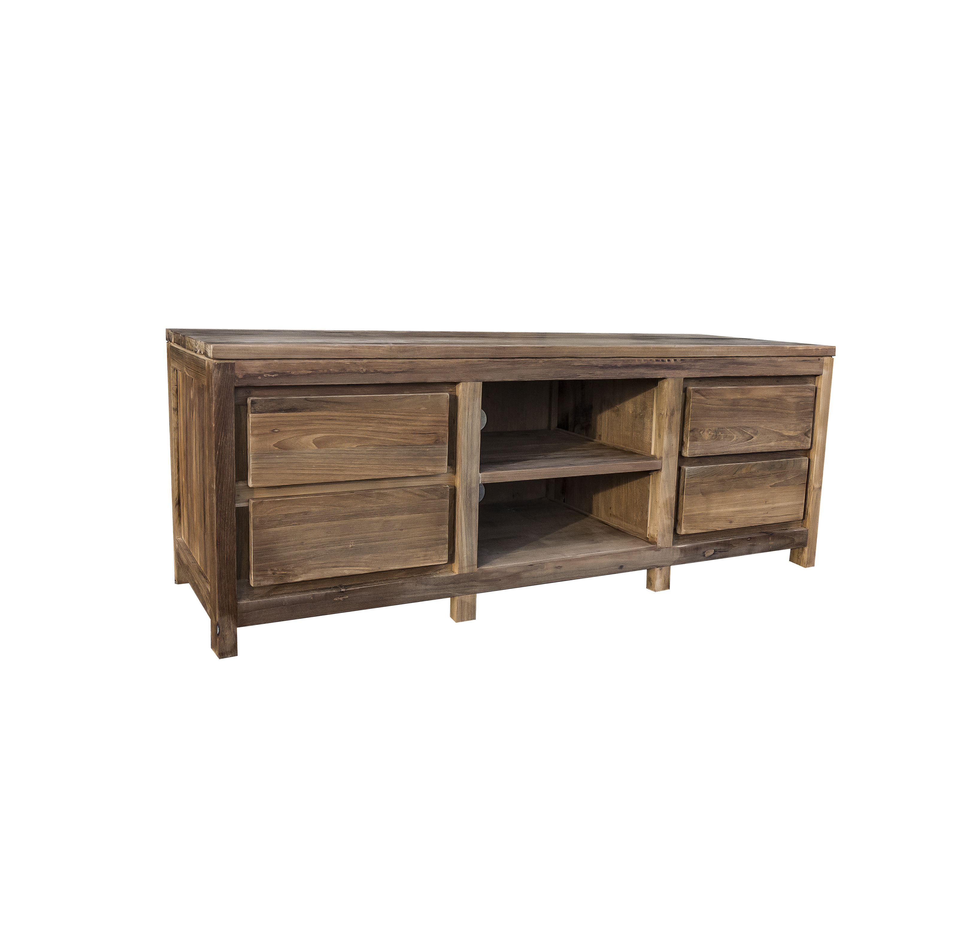 reclaimed wood tv unit 77
